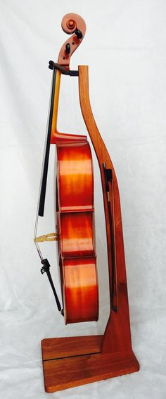Wooden Cello Stand Cherry Maple Mahogany or Walnut by GuitarStands