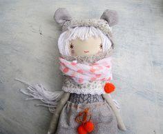 Silver Girl Doll / Soft Doll / Sweet Rag Doll / by thedollsunique