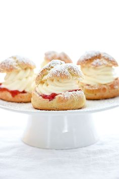Classic Cream Puffs-Another recipes to try. I'm hoping her tip about putting the puffs in at -25 degrees of the desired temp and then turning it up to 450 will make them puff better.
