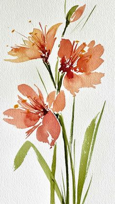 Watercolor Paintings For Beginners, Watercolor Art Lessons, Watercolor Techniques, Watercolor Flowers Tutorial, Floral Watercolor, Watercolour Flowers, Watercolour Art, Watercolor Cards, Watercolors