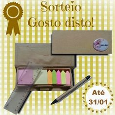 Gosto Disto!: Sorteio de um Kit de Post-it Office Supplies, Diy, Html, Giveaway, Prize Draw, Handmade Crafts, Everything, Places, Do It Yourself