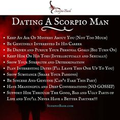 "171 Likes, 9 Comments - Scorpio Bash (@scorpiobash) on Instagram: ""Dating a #scorpio man. Are these true? Which ones? ♏ …"""