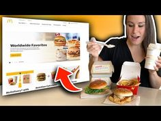 As an excuse to see what the Worldwide McDonald's menu is all about, we decided it'd be fun to literally do whatever the website promotes on the main page. Mcdonald Menu, Mcdonalds, Junk Food, Advertising, Let It Be, Eat, Youtube, Youtubers