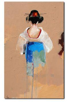 Geisha Spring II painted by my dad Geisha Kunst, Geisha Art, Figure Painting, Painting & Drawing, Geisha Drawing, Art Sketches, Art Drawings, Japan Art, Japan Japan