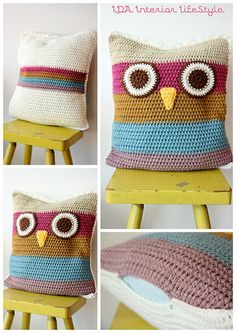 Simple kiddies crochet owl