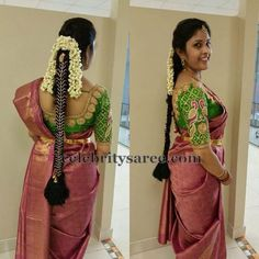 Exclusive Collection of Indian Celebrity Sarees and Designer Blouses Best Indian Saree Click VISIT link above to see Wedding Saree Blouse Designs, Blouse Designs Silk, Saree Blouse Patterns, Peacock Blouse Designs, Kurta Designs, Saree Wedding, Wedding Bride, South Indian Wedding Hairstyles, Indian Hairstyles