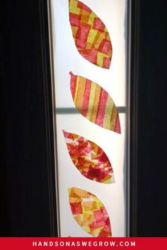 Super simple leaf suncatcher DIY craft for toddlers and preschoolers. This fall activity uses simple supplies and makes beautiful decorations!