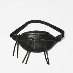 Yvonne Koné SS16_ZIPPER BUM BAG - BLACK