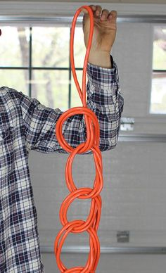 wrap extension cord finished product series of knots