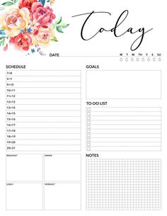 Free Printable 2019 Planner 50 Plus Printable Pages! - The Cottage Market - - Come on in and snatch up your Free Printable 2018 Planner 50 Plus Printable Pages! You will find everything you need to get organized for the new year! Planner Free, To Do Planner, 2018 Planner, Daily Planner Pages, Daily Planner Printable, Free Printable Calendar, Day Planners, Planner Template, Monthly Planner