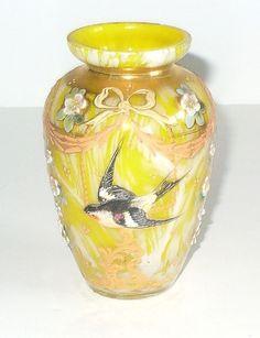 Moser Spatter Enameled Glass
