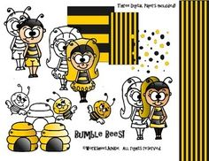 Free Bumble Bee Clipart and Paper