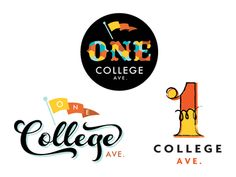 One College Avenue Logo Mockups B