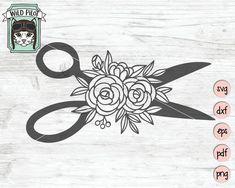 Sewing SVG file Spool of Thread svg file sewing cut file Scissors Tattoo, Sewing Tattoos, Thread Spools, Svg Cuts, Flower Crafts, Floral Flowers, Design Bundles, Svg File, Tatoo