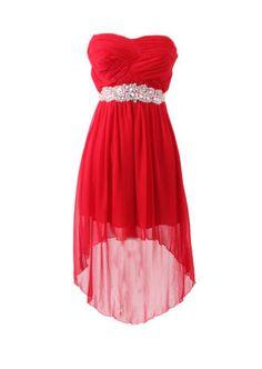 City Triangles - Red chiffon high low dress with beaded waist band Red Chiffon, Dressy Dresses, Triangles, Special Occasion Dresses, High Low, Prom, Band, City, Fashion