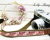 Lusikka camera strap flower lily
