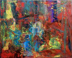 Abstract Oil Painting - RM 833 - 16 (Malerei),  100x80x1,8 cm von Rico Mocellin Die Ölgemälde haben eine abstrakte Stil, viele Farben werden verwendet, um das Ergebnis sind bunte Kunstwerke mit unterschiedlichen Texturen. Rico Mocellin's Kunstwerke sind das Ergebnis seiner Verrücktheit, in Farben umgewandelt.