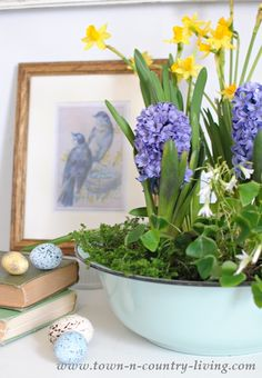DIY Spring Bulb Flower Arrangement