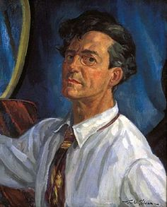 John Sloan (American, 1871-1951), Self-Portrait, Working 1916