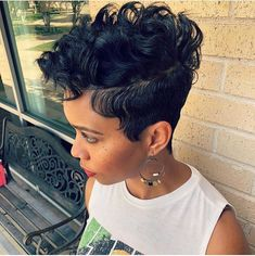 50 Bold Curly Pixie Cut Ideas To Transform Your Style in 2020 Undercut Curly Hair, Undercut Hairstyles, Pixie Hairstyles, Undercut Mohawk, Pixie Mohawk, Stylish Hairstyles, Curly Pixie Cuts, Short Pixie Haircuts, Short Black Hairstyles