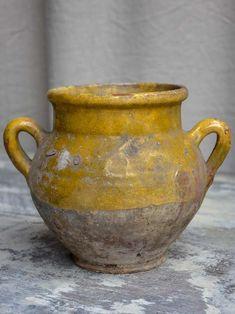 """Rustic French confit pot 7 ½"""" – Chez Pluie Porcelain Dinnerware, China Dinnerware, Porcelain Ceramics, China Porcelain, Painted Porcelain, Hand Painted, Rustic French, French Country, Ceramic Studio"""