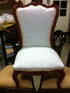 Stunning Ruby Red Vintage French Provincial style Boudoir Chair