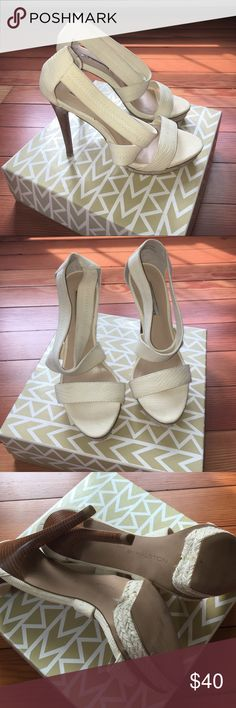 H by Halston H by Halston Creme/Nude Heel. Size 8. 5 Inch Heel H by Halston Shoes Heels