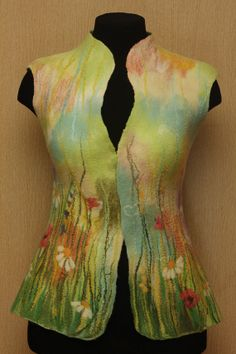 A camomile meadow / Felted Clothing / Vest by LybaV on Etsy, $200.00