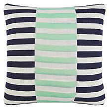Buy House by John Lewis Dominoes Cushion, Navy / Mint Online at johnlewis.com
