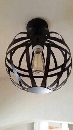 Homemade light fixture (two garden baskets)