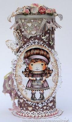 La-La Land Crafts - TEA TIME MARCI altered pringles can ♥♥ - Created-By-Silvie-Z.