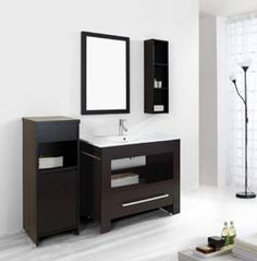 "40"" Virtu Masselin ES-2440ES : bathroom vanity #BathroomRemodel #BlondyBathHome #BathroomVanity  #ModernVanity"