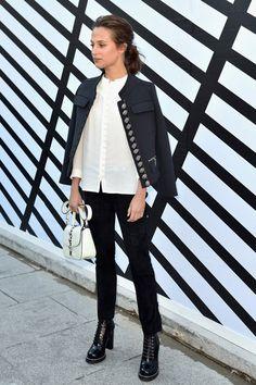 Alicia Vikander at the Louis Vuitton Fashion Show