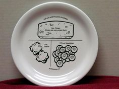 Bariatric Food Plates (these cost$16) or you diy with a dollar store plate, a sharpie & bake it in the oven -- and save yourself $15 in the process!