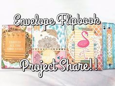 I am linking my latest flip book process video for those who still have not watched it or entered my mini giv. Flip Books, Envelope Punch Board, Pocket Letters, Happy Mail, Art Challenge, Book Binding, Flipping, Mini Albums, Envelopes