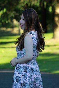 Blush Floral Flare Dress