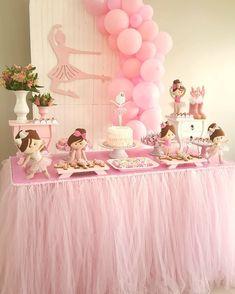 1st Birthday Girls, Birthday Parties, Baby Shawer, Ballerina Party, Birthday Decorations, Shower, Wedding, Ideas, Ballerina Birthday Parties