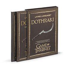 Game of Thrones Dothraki Living Language | ThinkGeek