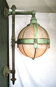 Pair of Bronze  Wall Sconces in the style of Hastings image 3