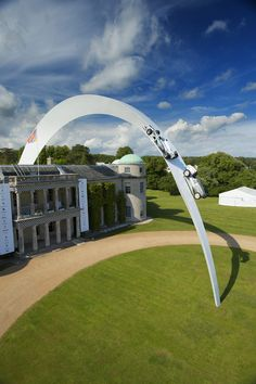Gerry Judahs sculpture for Mercedes Benz at the Goodwood Festival of Speed 2014