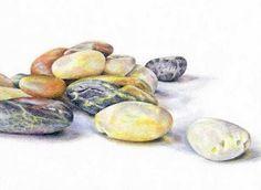 stones colored pencil