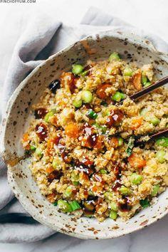 15 Minute Cauliflower Fried Rice | Pinch Of Yum
