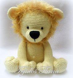 leon amigurumi tejidos thina Crochet Deer, Crochet Lion, Cute Crochet, Crochet Animals, Crochet Patterns Amigurumi, Amigurumi Doll, Crochet Dolls, Crochet Disney, Pet Monkey
