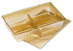 Food and Gourmet Boxes - Gold Ballotin Trays, 4 1/2 x 2 3/4 x 7/8' (25 Trays) - BOWS-M1919 * Learn more by visiting the image link.