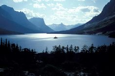 "St. Mary Lake, Glacier National Park, Montana.  ""Oh, I'll Never Leave Montana, Brother."""