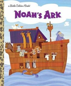 Noah's Ark (Little Golden Book) by Barbara Shook Hazen http://smile.amazon.com/dp/0307104400/ref=cm_sw_r_pi_dp_7qrPwb0R4ZSM6