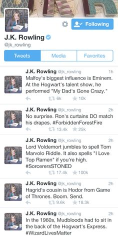 J.K. Rowling can't stop posting new Harry Potter...