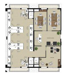 Oscar Freire Design Offices - Planta junção de 4 unidades