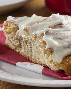 Cinnamon Roll Cake   MrFood.com