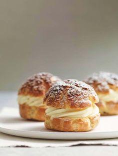 Apple and Calvados crumble choux buns Recipe